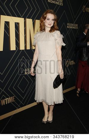 LOS ANGELES - JAN 4:  Jennifer Stahl at the Showtime Golden Globe Nominees Celebration at the Sunset Tower Hotel on January 4, 2020 in West Hollywood, CA