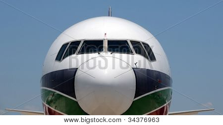 Modern Jetliner Closeup