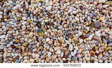 Small Rocks Or Stone Texture For Background.