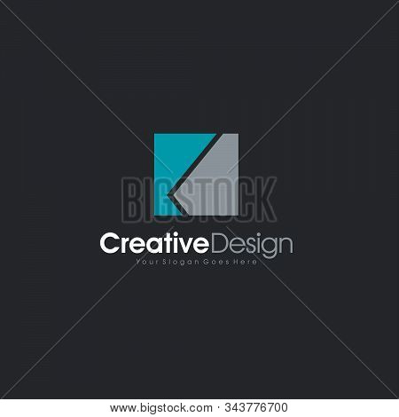 Exclusive Classic Typography K Letter And V Letter Combine Logo Emblem Monogram Creative Design