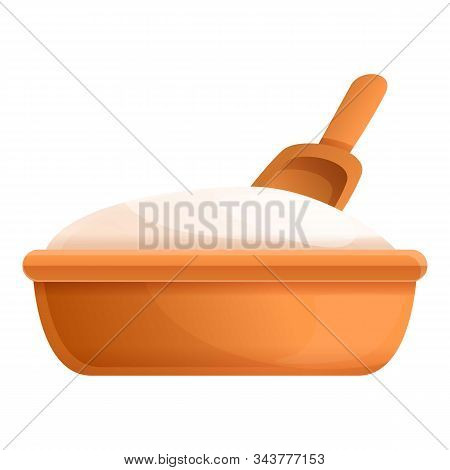 Flour Basin Icon. Cartoon Of Flour Basin Vector Icon For Web Design Isolated On White Background