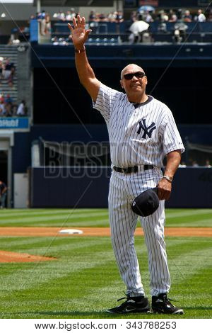 BRONX, NY - JUN 26: Former New York Yankees outfielder Reggie Jackson during The New York Yankees 65th Old Timers Day game on June 26, 2011 at Yankee Stadium.