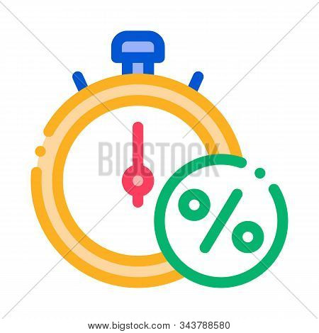 Time Is Interest Icon Vector. Outline Time Is Interest Sign. Isolated Contour Symbol Illustration