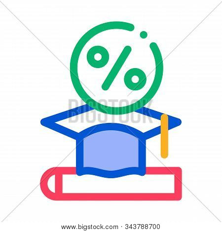 Lend Money To Pay For Tuition Icon Vector. Outline Lend Money To Pay For Tuition Sign. Isolated Cont