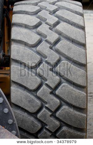 Tire on a excavator