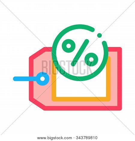 Interest Label Tag Icon Vector. Outline Interest Label Tag Sign. Isolated Contour Symbol Illustratio