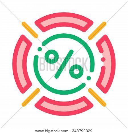 Interest Target Concept Icon Vector. Outline Interest Target Concept Sign. Isolated Contour Symbol I