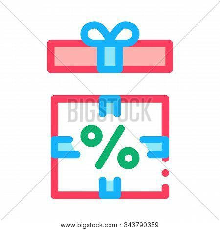 Open Interest Gift Icon Vector. Outline Open Interest Gift Sign. Isolated Contour Symbol Illustratio
