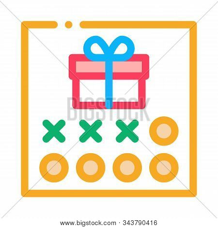 Number Needed To Receive Gift Icon Vector. Outline Number Needed To Receive Gift Sign. Isolated Cont