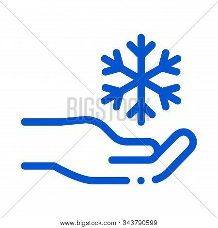 Fancy Snowflake Sign Icon Vector. Outline Fancy Snowflake Sign Sign. Isolated Contour Symbol Illustr