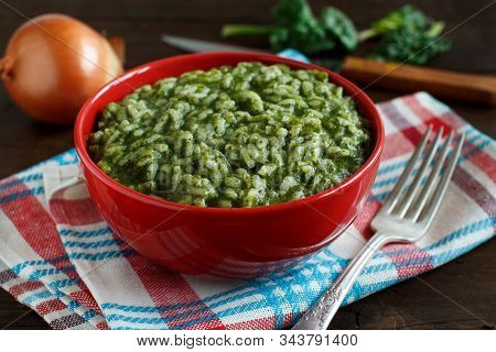 Risotto With Spinach Cream