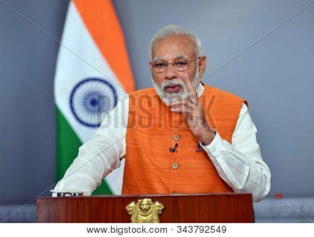 New Delhi,india,december 2019,indian Prime Minister Narendra Modi Talking At Parliament House