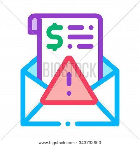 Fake Money Criminal Liability Warning Icon Vector. Outline Fake Money Criminal Liability Warning Sig