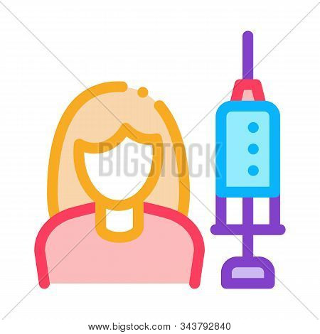 Injections For Women Rejuvenation Icon Vector. Outline Injections For Women Rejuvenation Sign. Isola