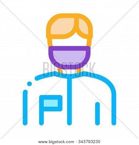 Doctor Surgeon Man Icon Vector. Outline Doctor Surgeon Man Sign. Isolated Contour Symbol Illustratio