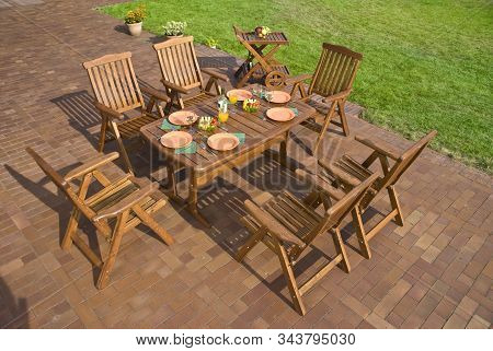 The Garden Furniture At The Patio W Place Setting