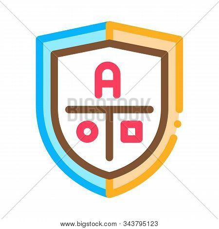 Academy Emblem Logo Icon Vector. Outline Academy Emblem Logo Sign. Isolated Contour Symbol Illustrat
