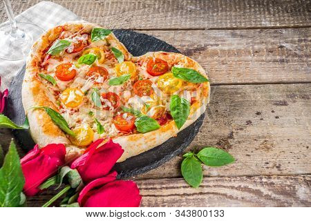 Heart Shaped Pizza For Valentine Day