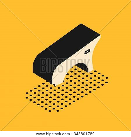 Isometric Car Fender Icon Isolated On Yellow Background. Vector Illustration