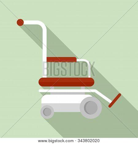 Motor Wheelchair Icon. Flat Illustration Of Motor Wheelchair Vector Icon For Web Design