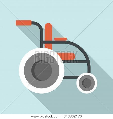 Invalid Wheelchair Icon. Flat Illustration Of Invalid Wheelchair Vector Icon For Web Design