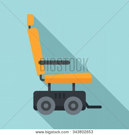 Motor Power Wheelchair Icon. Flat Illustration Of Motor Power Wheelchair Vector Icon For Web Design