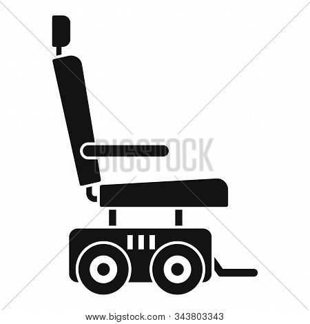 Motor Power Wheelchair Icon. Simple Illustration Of Motor Power Wheelchair Vector Icon For Web Desig
