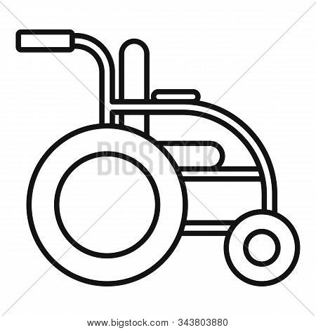 Invalid Wheelchair Icon. Outline Invalid Wheelchair Vector Icon For Web Design Isolated On White Bac