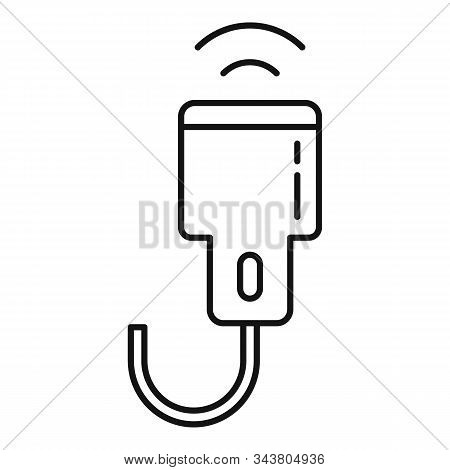 Ultrasonic Scanner Icon. Outline Ultrasonic Scanner Vector Icon For Web Design Isolated On White Bac