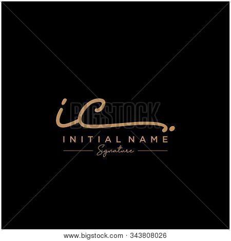 Letter Initial Ic Signature Logo Template Vector