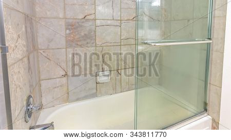 Panorama Shower With Glass Door Clean Inside