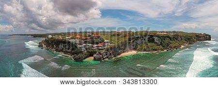 Aerial panorama from famous Uluwatu area on Bali Indonesia