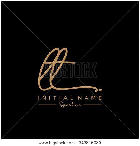 Letter Initial Lt Signature Logo Template Vector