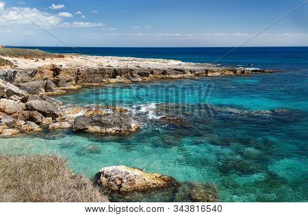 Coastline Near Otranto, Salento Peninsula, Puglia,  South Italy