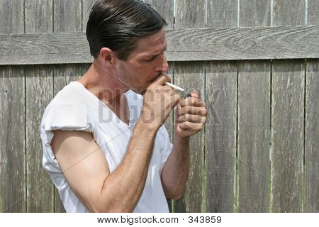 Lighting A Cigarette