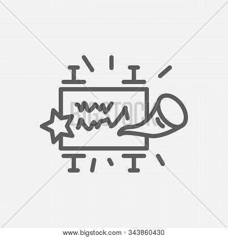 Rosh Hashanah Icon Line Symbol. Isolated Vector Illustration Of Icon Sign Concept For Your Web Site