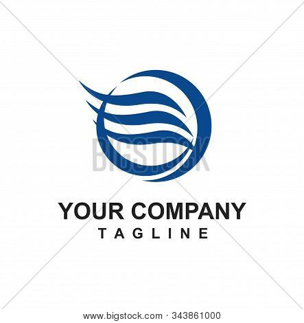 E, Eo Initials Blue Water Wind Aqua For Water Treatment And Water Company Logo