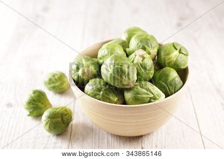 close up on raw brussel sprouts