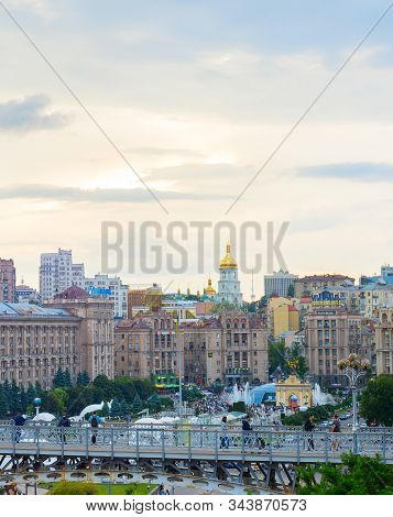 Kiev, Ukraine - May 25, 2019:view Of Independence Square (maidan Nezalezhnosti) - Is The Main Square