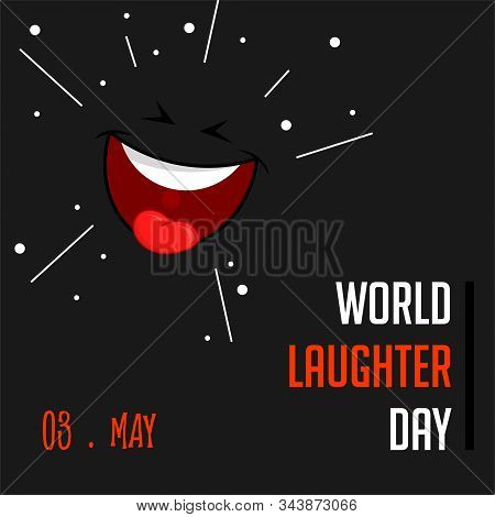 World Laughter Day On 03 May Vector Design With Laugh Wallpaper