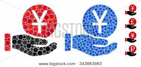 Yuan Coin Payment Composition Of Small Circles In Various Sizes And Shades, Based On Yuan Coin Payme