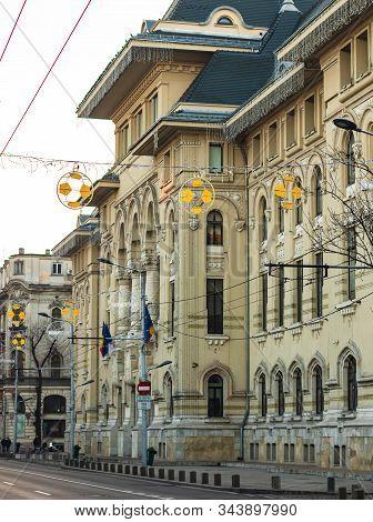 Bucharest City Hall Building (primaria Municipiului Bucuresti) Landmark Of Bucharest, Romania, 2020