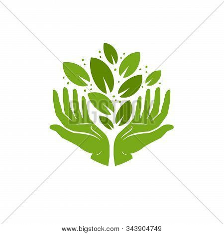 Ecology Logo. Environment, Nature, Natural Symbol. Vector Illustration