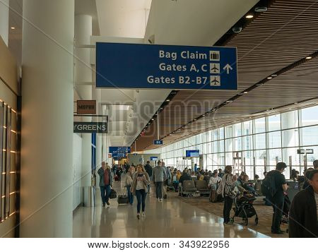 New Orleans, La, Usa. December 2019. The Louis Armstrong New Orleans International Airport (msy), Fo