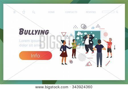 Pupils Demonstrating Bad Behavior Throwing Papers Mocking And Teasing Male Teacher Near Chalkboard D