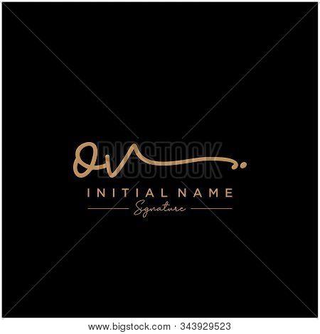 Letter Initial Ov Signature Logo Template Vector