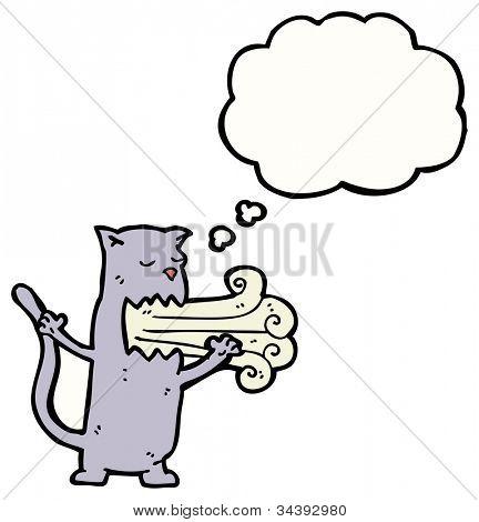 belching cat cartoon