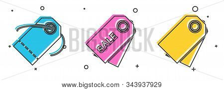 Set Blank Label Template Price Tag, Price Tag With An Inscription Sale And Blank Label Template Pric