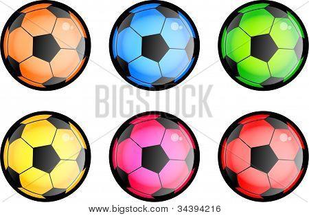 Glossy Soccer Balls