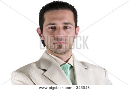 Isolated Businessman Portrait